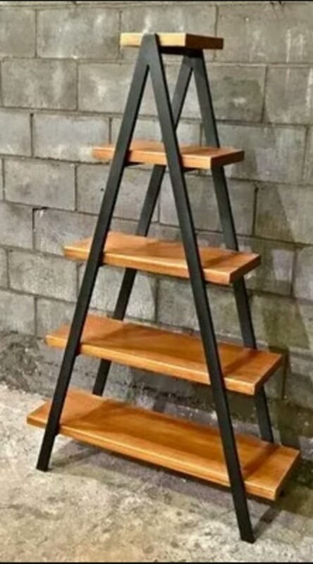 estante modular ordenador piramide hierro madera 5 pisos. Cargando zoom. d1192665fed9
