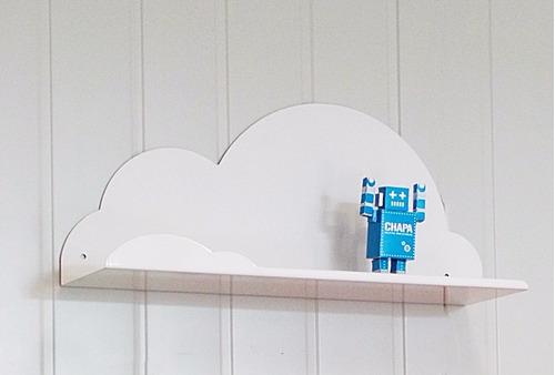 estante multiuso repisa cloud forma de nube chapa diseño