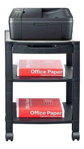 estante organizador de oficina movil para impresora