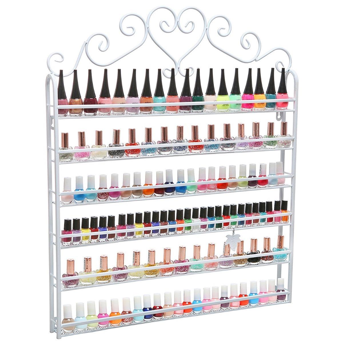 Estante Organizador Esmalte Uñas Salon Decoration Mygift ...