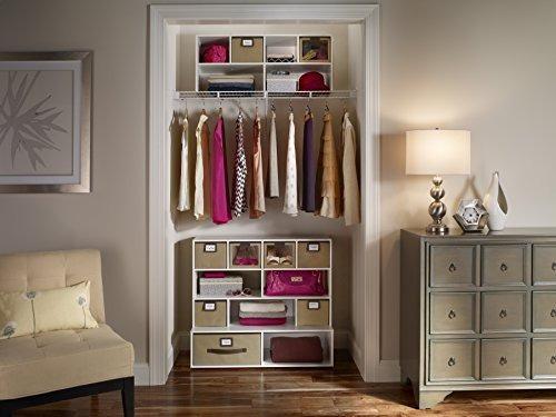 estante organizador multiuso closetmaid 5062 de madera