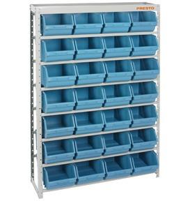 estante organizadora gaveteiro c/28 gavetas nº 7 azul