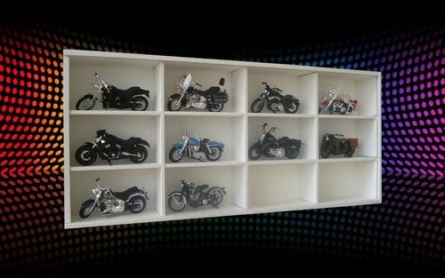 estante para 12 motos harley davidson/ super