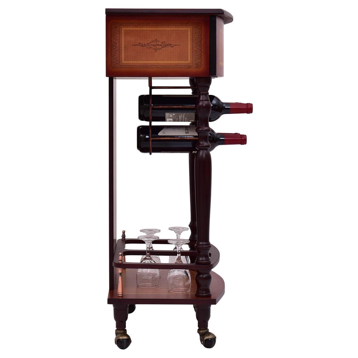 Estante para botellas licor vintage madera vino mueble bar for Mueble para botellas