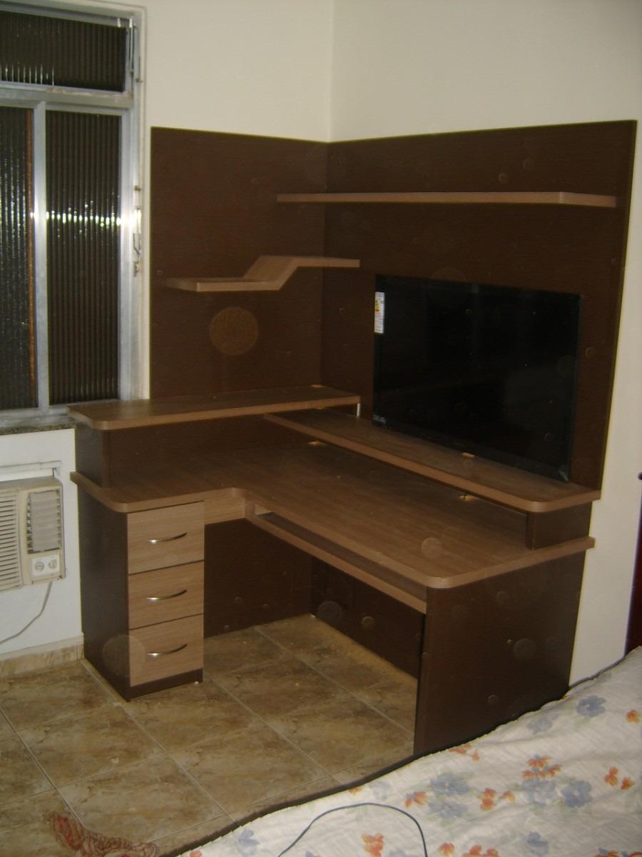 Estante Para Computador E Tv Lcd R 1 700 00 Em Mercado Livre -> Estantes Para Sala De Tv Lcd