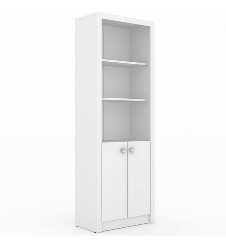 estante para escritório 3 prateleiras e 2 portas bf