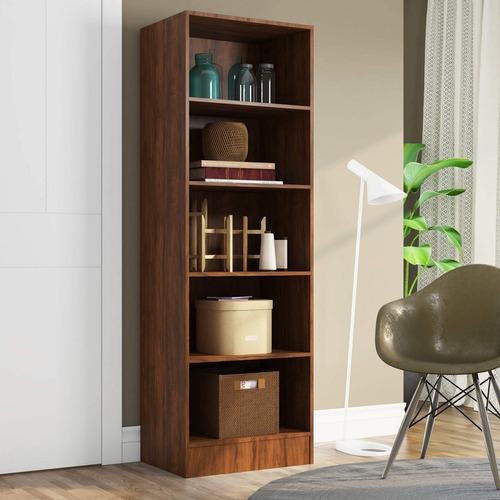 estante para livros 5 prateleiras charge siena móveis ib