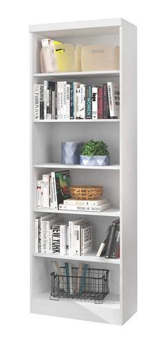 estante para livros 5 prateleiras linus qmovi branco ce