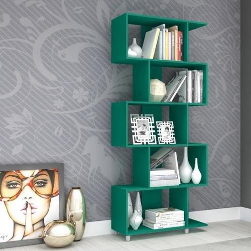 estante para livros com nichos esm209 retrô be