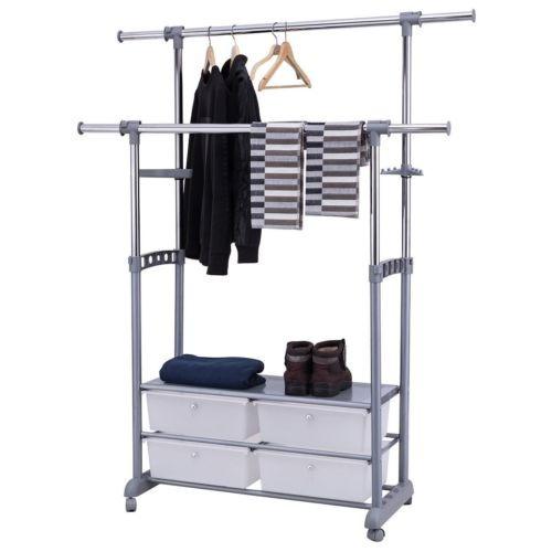 estante para ropa telescópico laminado ropa estante percher