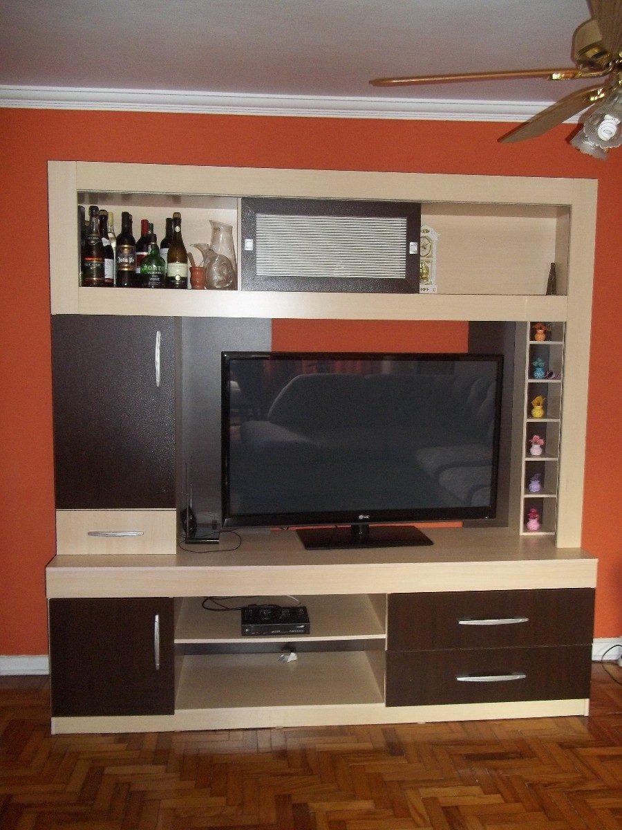 Estante Para Sala De Tv Maple Com Tabaco Nova R 590 00 Em  -> Imagem De Estante Para Sala