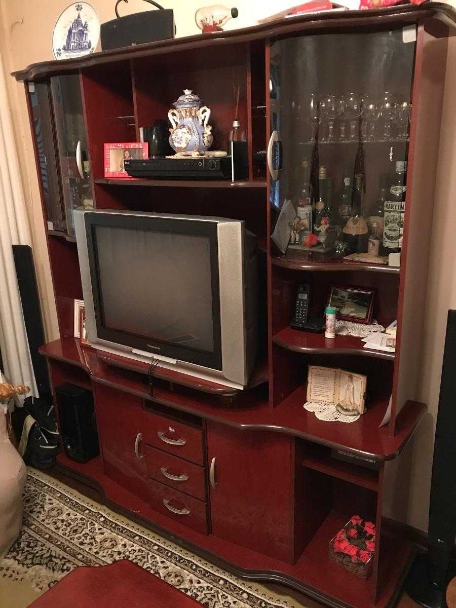 Estante Para Sala Em Madeira Para Tv Som E Dvd R 190 00 Em  -> Sala De Tv E Som
