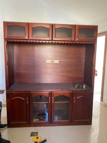 estante para tv caoba
