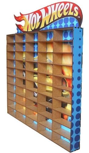 estante porta hotwheels para 50 carrinhos mdf adesivado