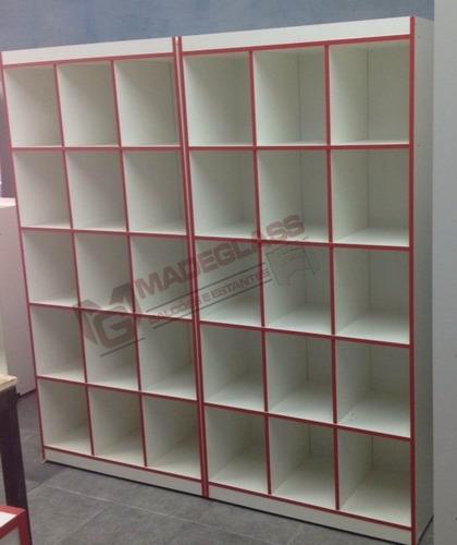 estante prateleira armario colmeia duplo de madeira 100%mdf