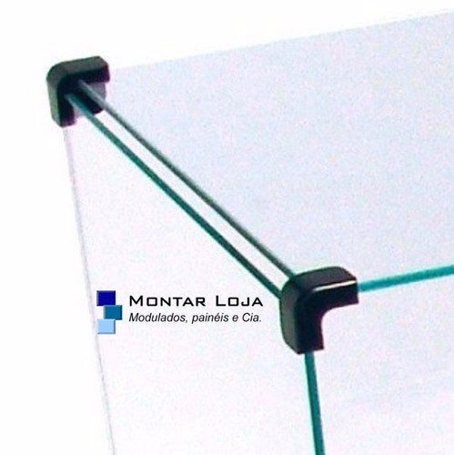estante prateleira de vidro 2,5 mt e apara 30 nicho 50x30x30