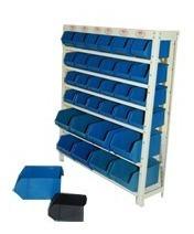 estante prateleira metalica caixa organizadora bin 32 mista