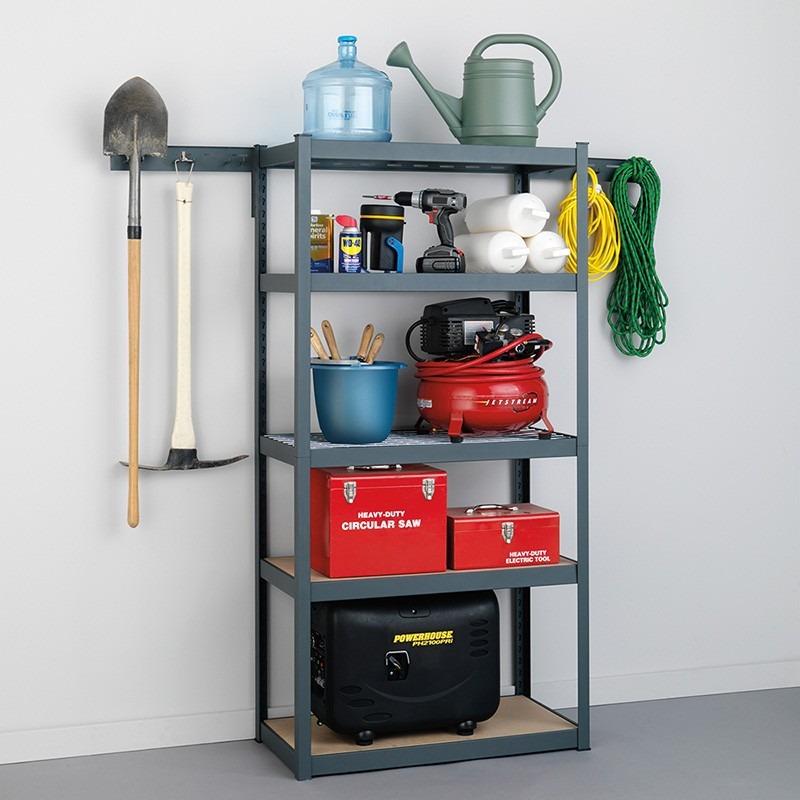 Estante rack anaquel 5 repisas organizador garage taller for Ganchos para repisas