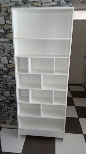 estante rack librero color blanco