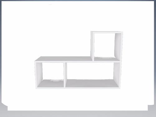 estante rack modular em madeira 1 peça