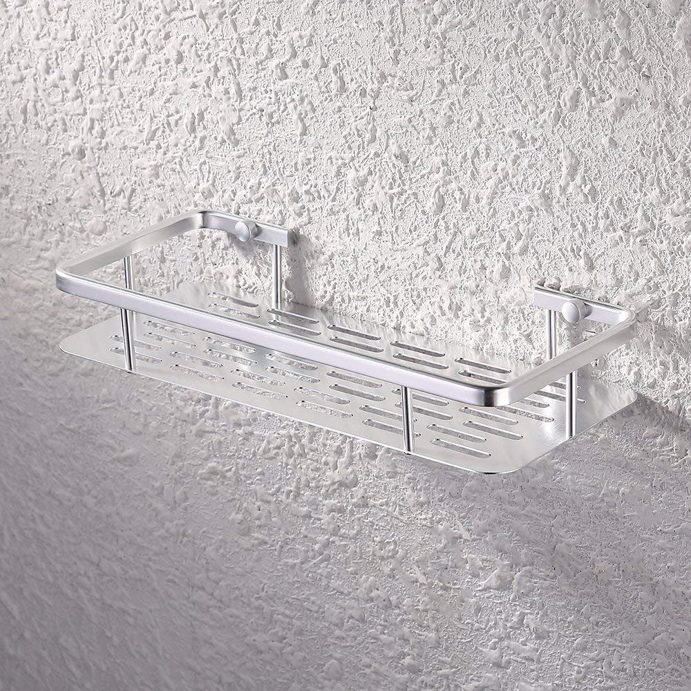 estante rectangular ducha baño acero inoxidable con baranda. Cargando zoom. 5d503436fbe8