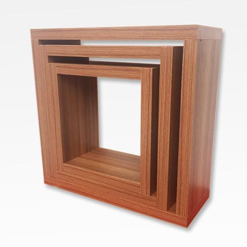 estante repisa  cubo x 3 flotante melamina 18 mm