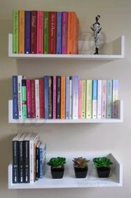 Repisas Para Libros Modernas.Estante Repisa Para Libros Flotante 120x20 Laqueados Moderno