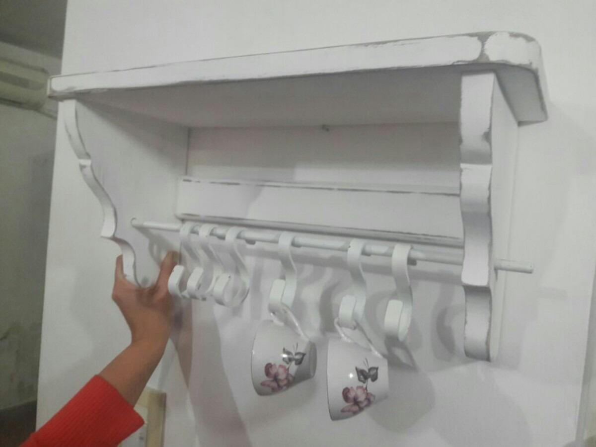 estante repisa vintage para cocina 60cm ganchos hierro. Cargando zoom. a398eceb0158