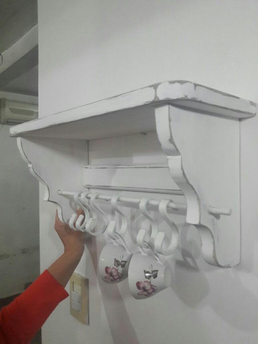 estante repisa vintage para cocina 70cm ganchos hierro. Cargando zoom. 3d5a08a4ceea