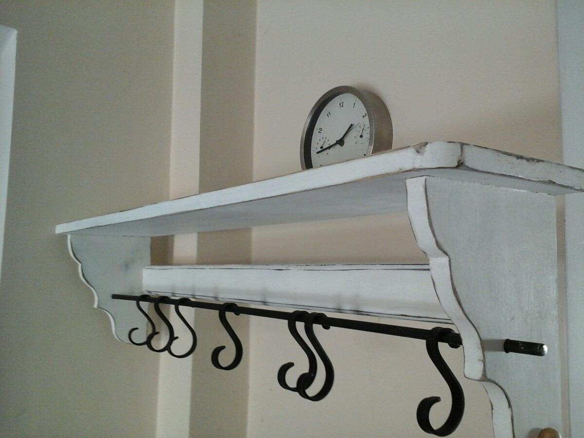 estante repisa vintage para cocina 90cm ganchos hierro. Cargando zoom. 4cf6ee9bfa6a