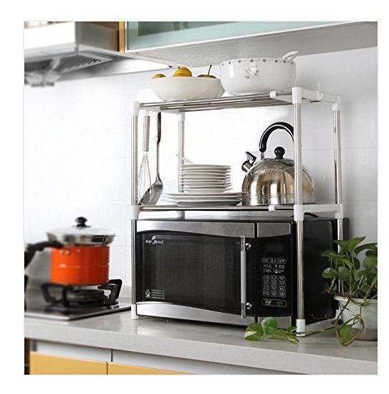 Estante repisas organizador cocina y hogar acero for Repisas rusticas para cocina