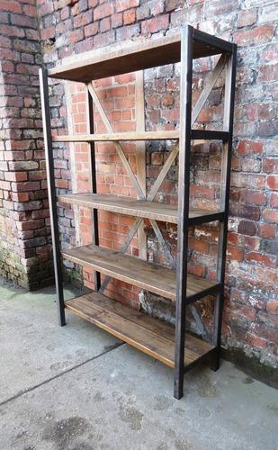 Iron And Wood Bookshelf