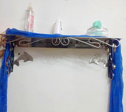 estante simple repisa baño o cocina en acero inoxidable