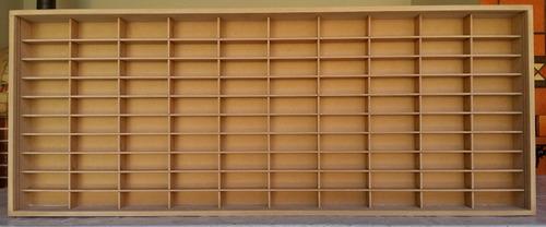estante slim p/ carrinhos 100 nichos 1.64 mdf s/ porta