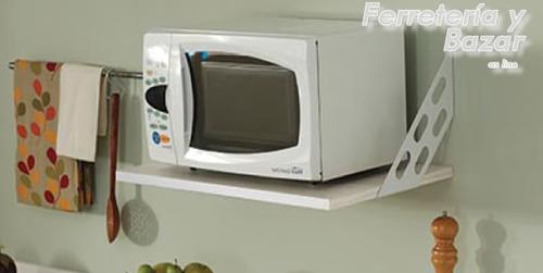 estante soporte microondas 60 x 40  blanco horno electrico