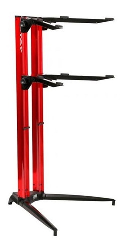 estante suporte duplo piano stay 1200/02 115cm vermelha capa