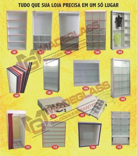 estante vitrine de vidro com base de madeira com porta