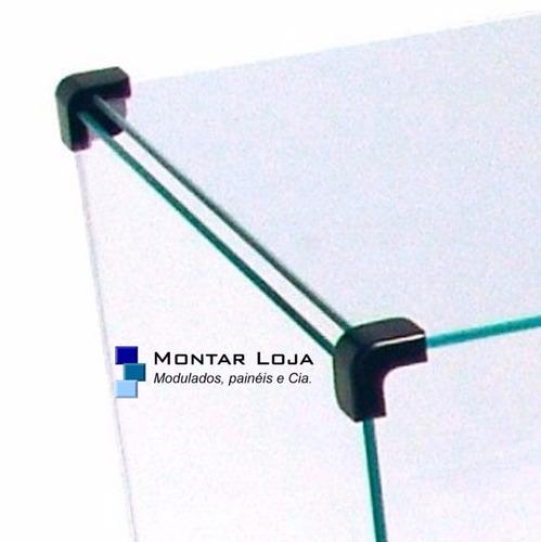 estante vitrine prateleira 200 x 190 x 30 de vidro modulado