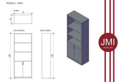 estantera / biblioteca 1ªcalidad - 2 puertas - calidad jmi