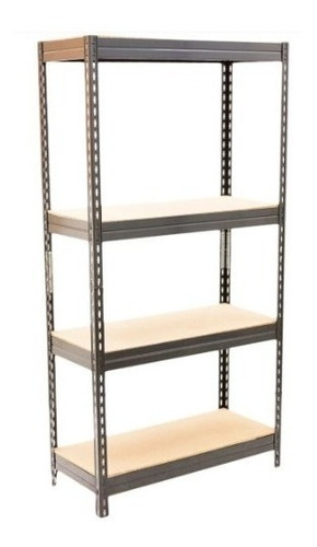estanteria aglomerada 4 estantes metal 176 cm largo + 200kg