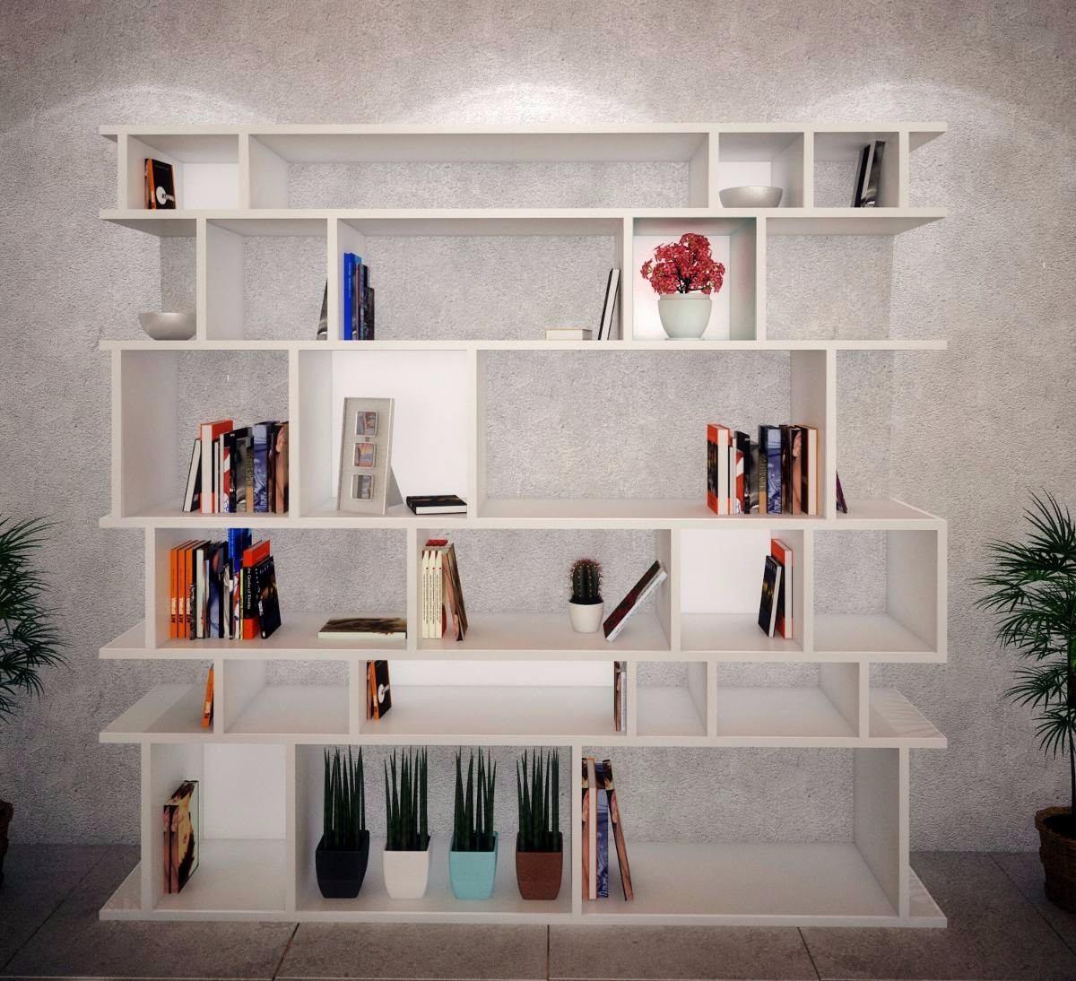 Estanteria Biblioteca De Dise O Rack Divisor De Ambiente  ~ Estanteria Separadora De Ambientes