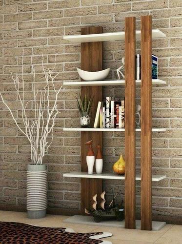 estantería biblioteca moderna minimalista madera