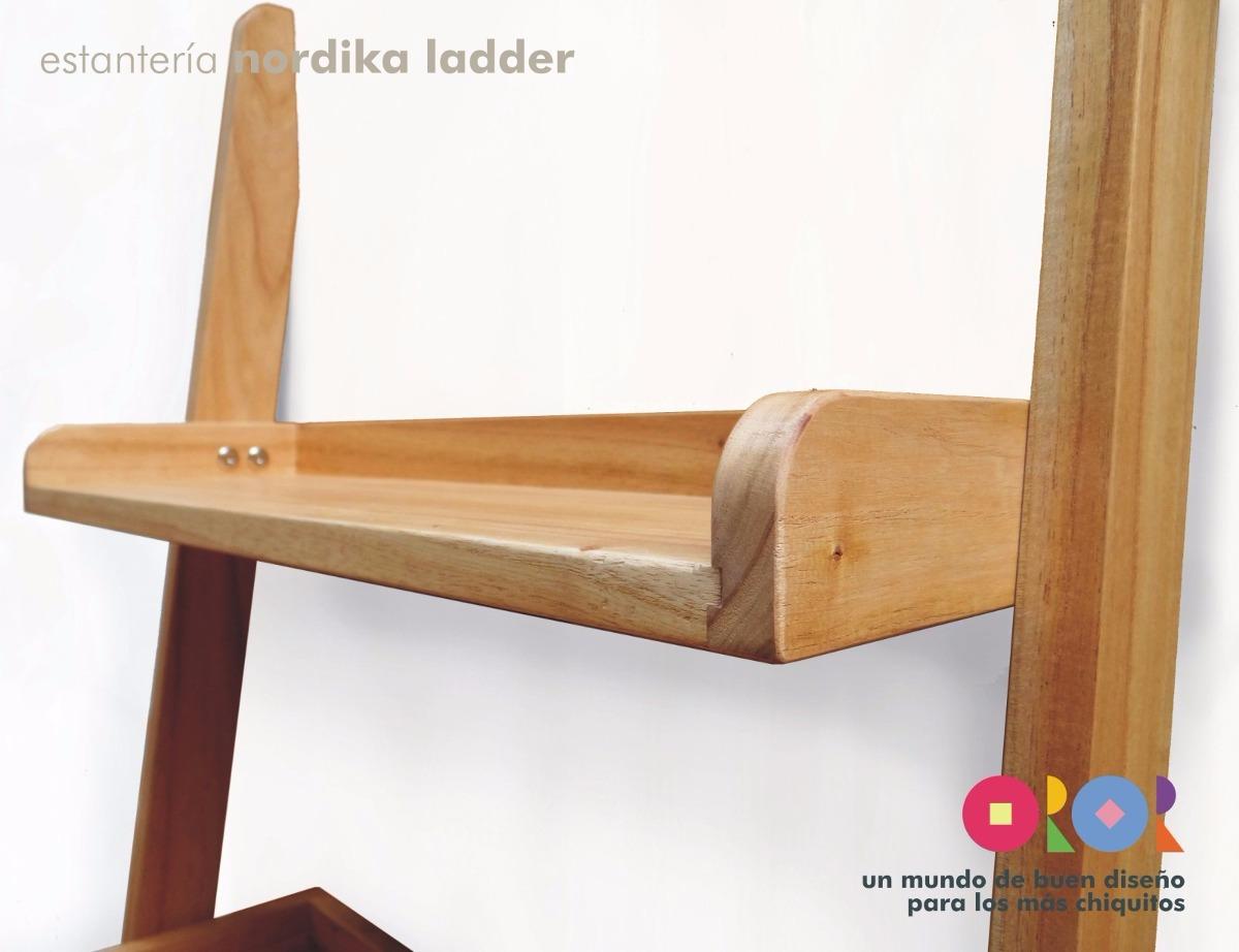 estantera biblioteca nordika ladder madera maciza diseo