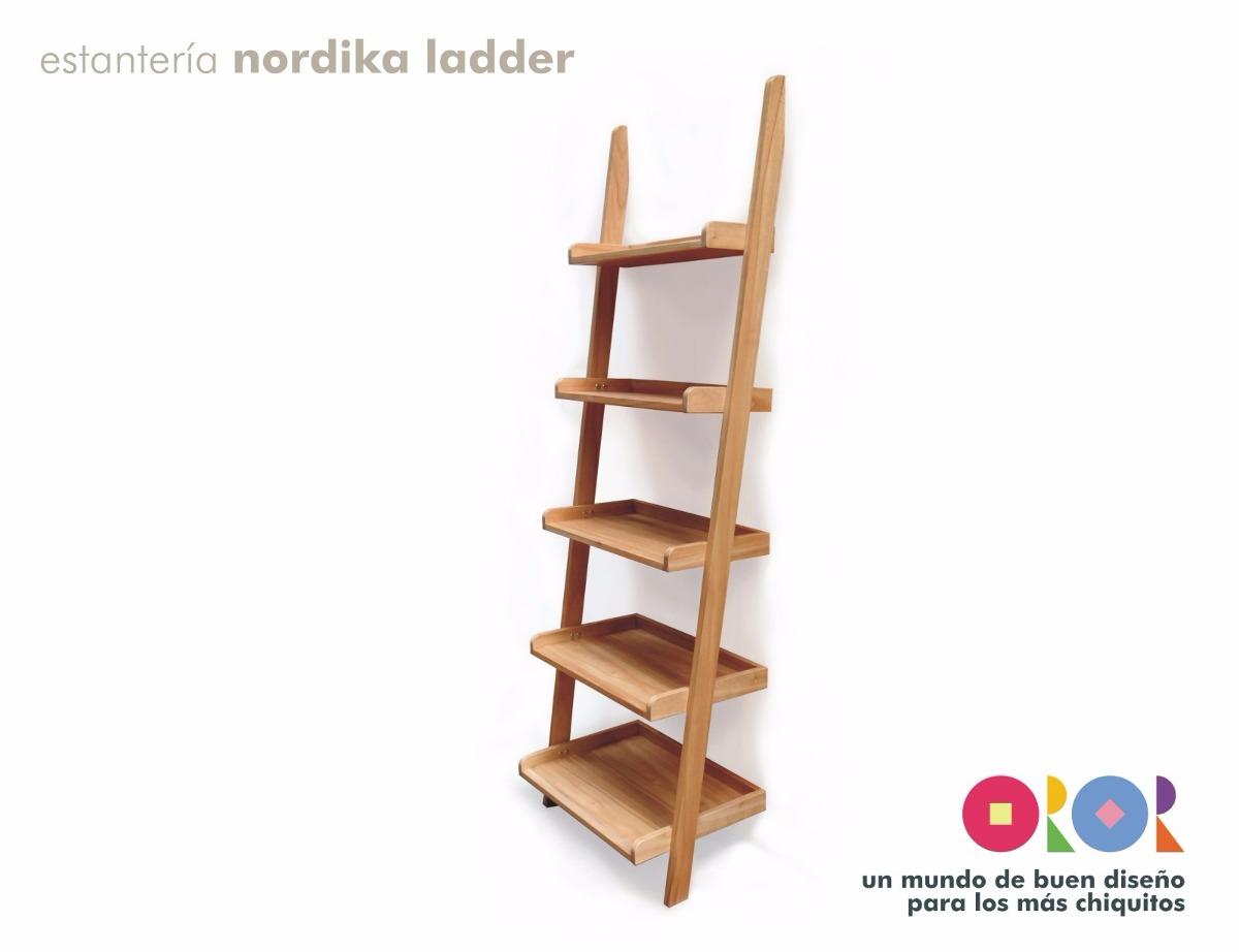 Estanter A Biblioteca Nordika Ladder Madera Maciza Dise O