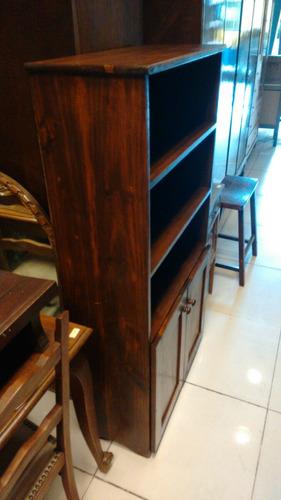 estantería biblioteca rustica.