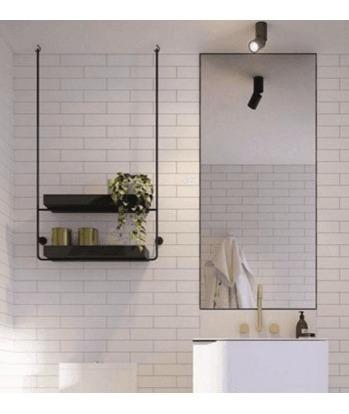 estanteria colgante de chapa y hierro diseño indistrial