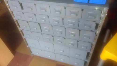 estanteria con 16 gavetas chapa 30 x 90 x 100 alto