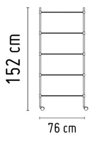 estanteria cromada 5 estantes acero cromado 90kg ruedas 2019