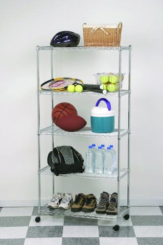 estanteria cromada + estantes acero cromado con ruedas