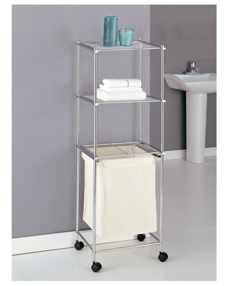 estantería cromada organizador de baño 3 estantes + bolsa. Cargando zoom. 7193aa201894
